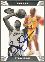 2007-08 Topps Co-Signers #4 Signed Auto Byron Scott Los Angeles Lakers Card