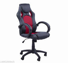 Rac Car Style Office Gaming Chair Hydraulic Computer Chair Black Red
