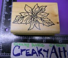 POINSETTIA FLOWER PLANT CHRISTMAS OUTLINE RUBBER STAMP ME AND CARRIE LOU