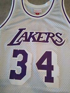 Mitchell Ness NBA LA Lakers Shaquille O'neal Platinum HWC Swingman Jersey Kobe🔥