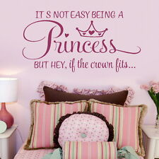 Girls Room Wall Stickers Bedroom Princess Quote Decal Vinyl Transfer SMLPINK go6