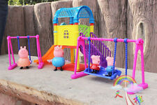 NEW Peppa Pig Playground Children's Slide Swing Play Set With Figures Xmas Gift