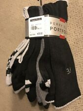 $30 Perry Ellis Men'S 5-Pair Pack Gray Black Casletic Crew Dress Socks Shoe 7-12