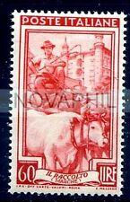ITALIA 1955 - ITALIA AL LAVORO RUOTA  Lire 60  NUOVO **