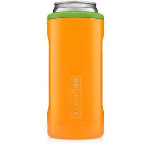 Brumate Hopsulator 12 oz Slim Can Cooler Tumbler Drink Holder PUMPKIN Orange