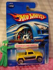 2006 Hot Wheels HUMMER H3T CONCEPT #173 ∞canary yellow/chrome; or5 tire∞mainline