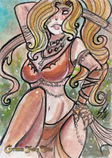 Grimm Fairy Tales 2016 SDCC Sketch Card Luro Hersal DE 2/3
