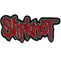 OFFICIAL LICENSED - SLIPKNOT - LOGO CUT OUT SEW ON PATCH METAL IOWA COREY