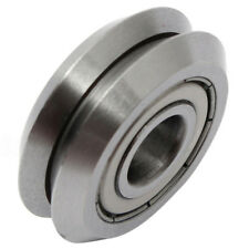 W1 Deep V Groove W-rail Guide Line Track Pulley Rollers Ball Bearings Steel P4U0
