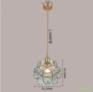 Japanese-style Colorful petals Chandelier Pendant lamp Ceiling light for Hallway