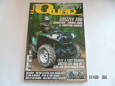 QUAD PASSION MAGAZINE N°73 07/2006 GRIZZLY 700 ARTIC CAT 650 H1 RALLYE MAROC H32