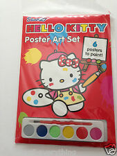 Hello Kitty - Poster Art Set 6 posters 6 watercolour paints & brush Painting