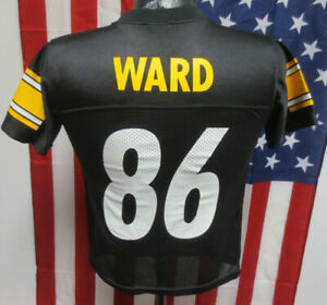 HINES WARD YOUTH SMALL PITTSBURGH STEELERS JERSEY NFL FOOTBALL KID BLACK PRINTED