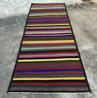 Hand Knotted Vintage Afghan Maimana Surpuri Kilim Gilam Wool Area Runner 8 x 3
