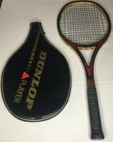Dunlop A Player Graphite Wood Reinforced Tennis Racquet with Bag Vintage