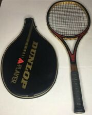 Vintage Dunlop A Player Graphite Wood Reinforced Tennis Racquet with Bag