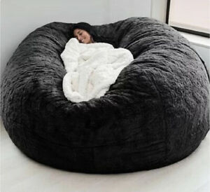 Giant Bean Bag Chair Fluffy Fur