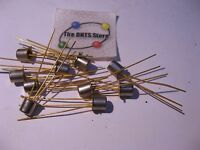 Northern Electric Silicon Si NPN Transistor Gold Leads Unmarked - NOS Qty 10