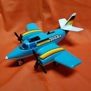 VINTAGE Tonka Hand Commander Turbo Prop Toy Airplane 1979 Blue White | Parts