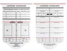 Smitty | Acs-540 | Collegiate Lacrosse Reusable Game Card | Official's Choice!