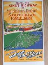 POSTCARD TRAVEL THE KING'S HIGHWAY BY MAIDSTONE AND DISTRICT - LONDON COASTAL CO