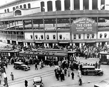 1935 Chicago Cubs vs Tigers WRIGLEY FIELD Glossy 8x10 Photo World Series Print