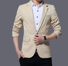 Business Mens Laple One Button Suits Blazers Tops Dress Short Jacket Slim Fit US