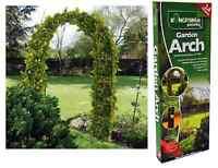 2.4m de Metal Jardín Arco Fuerte Tubular Rosa Escalada Plantas Espaldera Warch