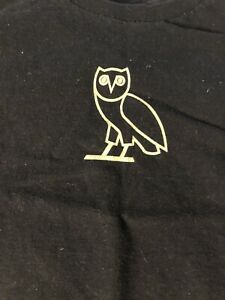 Drake OVO Owl T Shirt Mens Size Medium Black official authentic