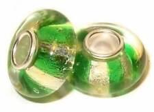 Perle für Sammelarmband, Bettelarmband. Bead. Charm. Muranoglas mit 925er Silber