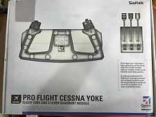 SAITEK PRO FLIGHT CESSNA YOKE FLIGHT YOKE AND 3-LEVER QUADRANT MODULE - UNTESTED