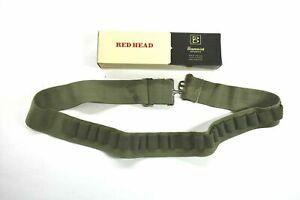 Vintage Redhead Brunswick Army Green Adjustable 25 Round Shotgun Shell Ammo Belt