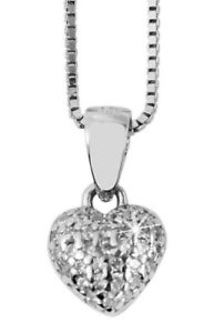 925 Silber Kette Halskette Herz Liebe Love Zirkonia Glitzer Herzanhänger Silver