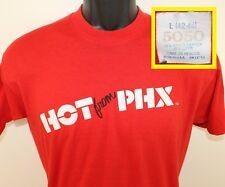 Hot from Phx Phoenix Arizona vtg tee M red 80s soft thin stretchy 5050 Too Hot