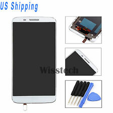 White LCD Screen & Touch Digitizer  For LG G2 VS980 Verizon Replacement + Frame
