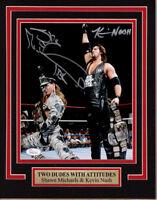 WWE WWF SHAWN MICHAELS KEVIN NASH 11X14 Matted Namplate PHOTO AUTOGRAPH  JSA