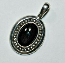 Lovely RETIRED JAMES AVERY Sterling Silver 925 Black Onyx Pendant