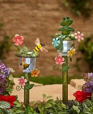 Solar Lighted Yard Stakes Pathway Walkway Garden Decor Frog Bumble Bee Butterfly