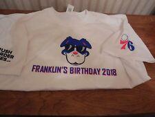 Phila 76ers XL Franklins Birthday T Shirt 2018