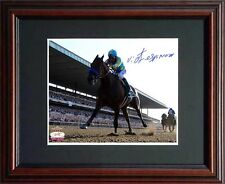 American Pharoah Victor Espinoza Signed Steiner 8x10 Photo 2015 Belmont Stakes