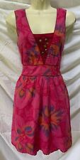 FREE PEOPLE Pink Watercolor Cotton Sun Dress Size 10 / M