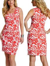 Shirt-Kleid Strandkleid Gr. 56/58  hummer/weiß bedruckt 929588 NEU