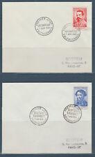 enveloppe 1er jour série des 6 célébrités  Toulouse Lautrec  1958