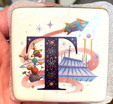 Disney Parks T is for Tomorrowland Abc Letters Ceramic Trinket Box New
