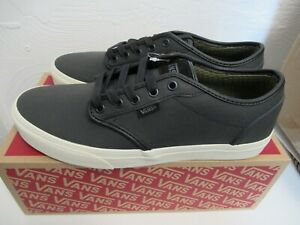 VANS ATWOOD CLASSIC LEATHER  MENS SHOES BLACK TURTLEDOVE  UK 10
