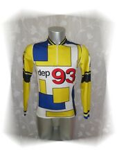 C - Maillot  Cycliste Jaune Manches Longues Burdigala Sport Taille 2 - M