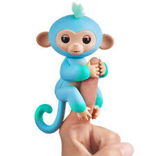 Fingerlings Interactive Two 2-Tone Monkey Blue Green Charlie AUTHENTIC by WowWee