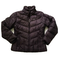 Columbia Sz S Wine Puffer Down Winter Jacket Coat Full Zip Zip Pockets Lined