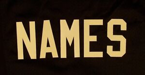 """3"""" WHITE Tackle Twill Letters for ANY NAME Nameplate on Football Hockey Jersey"""