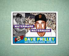 Dave Philley San Francisco Giants 1960 Style Custom Art Card